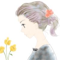横顔の女性