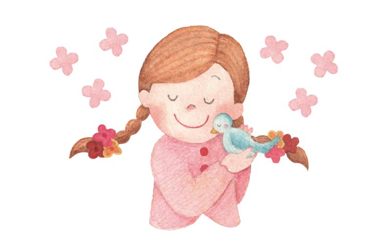 小鳥と女の子
